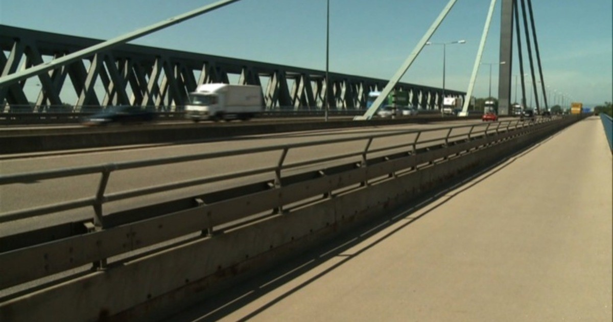 Rheinbrücke Karlsruhe Baustelle 2021